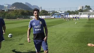 #SelecciónMayor Continúan los trabajos previos al partido con Venezuela. ¡Vamos Argentina!º