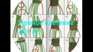 КАК плести фенечку прямым плетением? Видеоурок номер 2(Ставь лайк) и подпишись., 2014-06-05T12:43:26.000Z)