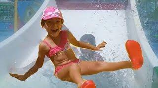 Antalya aqualand keyfi Aqua park tehlikeli kaydıraklar devam 3 , eğlenceli çocuk videosu