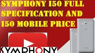 symphony i50 full specification symphony i50 mobile price in bangladesh