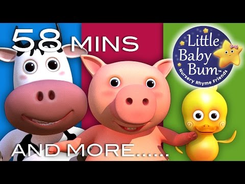 Old MacDonald Had A Farm  Plus Lots More Nursery Rhymes!  58 Mins Compilation from LittleBaBum!