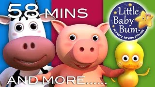 Repeat youtube video Old MacDonald Had A Farm | Plus Lots More Nursery Rhymes! | 58 Mins Compilation from LittleBabyBum!