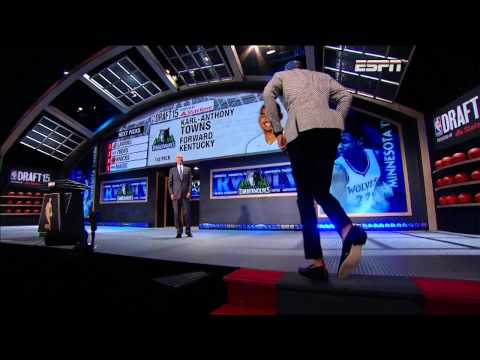 Timberwolves Select Karl-Anthony Towns 1st in 2015 Draft