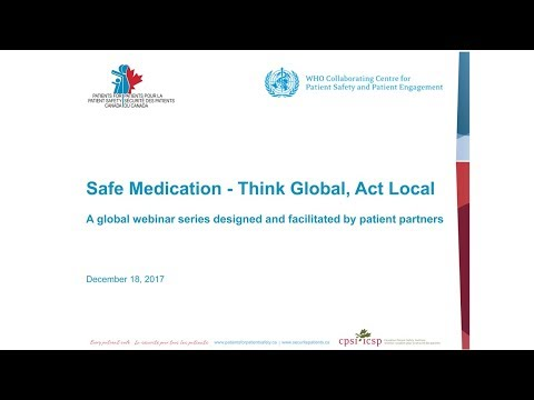 Safe Medication - Think Global, Act Local