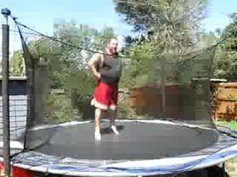 fat man breaks trampoline youtube. Black Bedroom Furniture Sets. Home Design Ideas