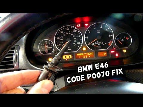 BMW E46 P0070 CODE AMBIENT AIR TEMPERATURE SENSOR FIX