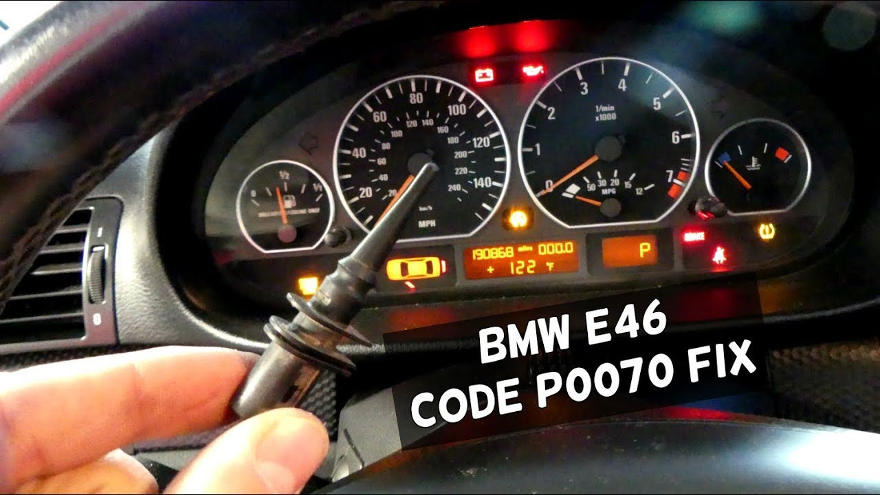 Bmw E46 P0070 Code Ambient Air Temperature Sensor Fix