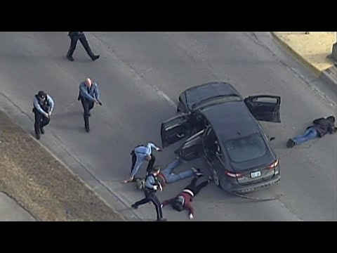 Raw: 3 Caught After High-Speed Kansas City Chase