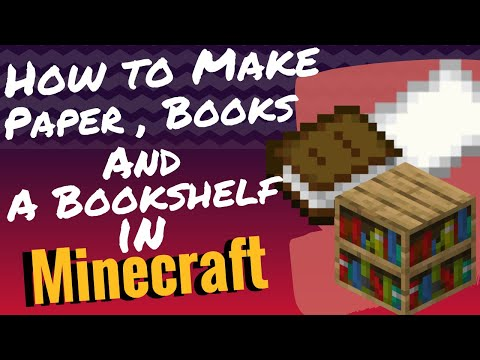 how-to-make-paper,-books-and-a-bookshelf-in-minecraft---minecraft-tutorial-2020