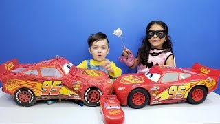 Child superhero comes to help little Zack with Disney Cars Lightning McQueen