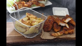 Poulet façon nuggets et frites au four !