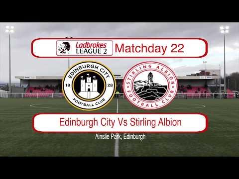 Edinburgh City Stirling Goals And Highlights