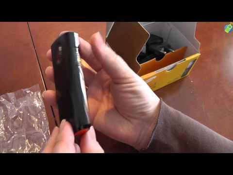 unboxing pl SAMSUNG E2121 Candy Red rozpakowanie po polsku