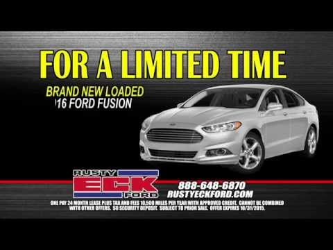 Lease Ford Fusion >> 2016 Ford Fusion 6900 One Pay Lease Rusty Eck Ford