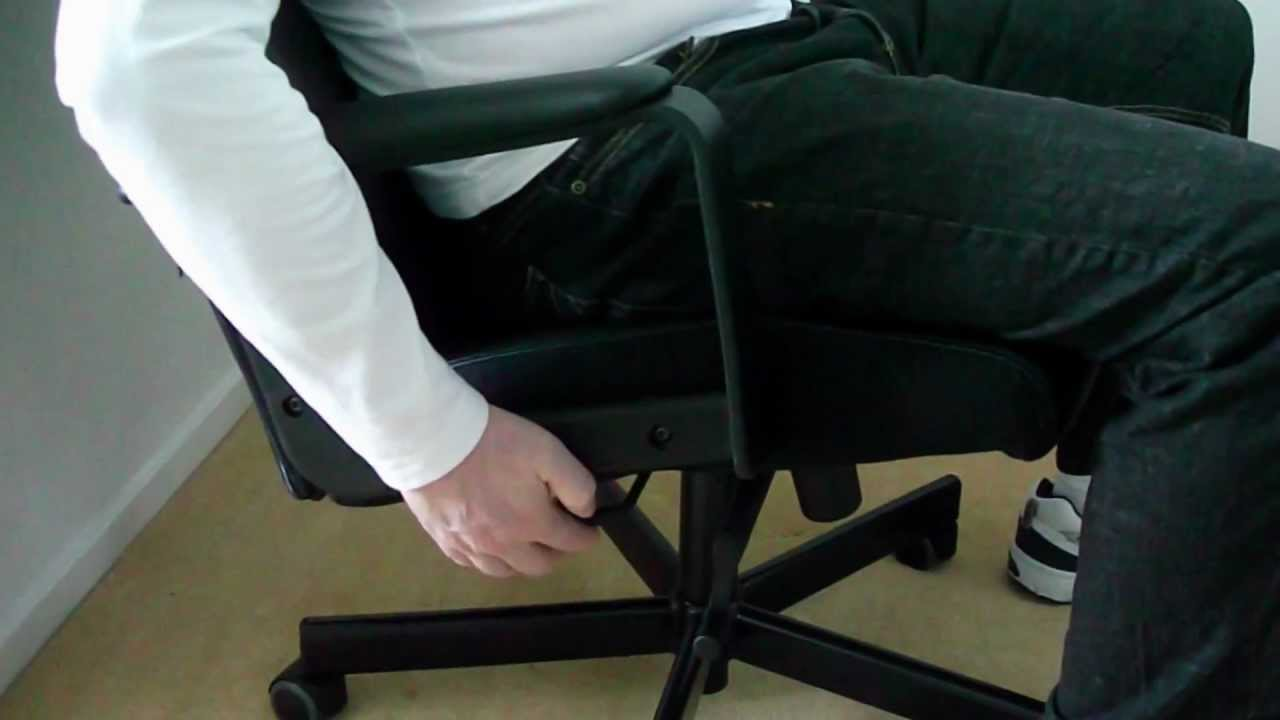 Desk Chair Leans Forward Keekaroo High Tray Ikea Malkolm Swivel Office Demo Youtube
