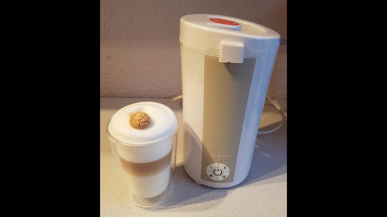 unhold 28470 milchaufsch umer super schaum f r latte macchiato youtube. Black Bedroom Furniture Sets. Home Design Ideas
