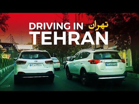 Driving in Tehran Iran 2018 - تهران | آزادی, انقلاب, فردوسی, ولیعصر, ونک, پارک وی, ولنجک