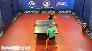 Настольный теннис матч 220918  1 Литвиненко Елена Котельникова Мария