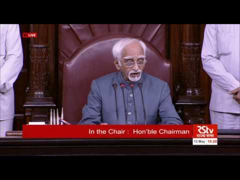 Valedictory remarks by the Chairman of Rajya Sabha | May 13, 2016