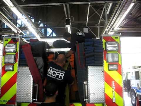 MCFRS alternate hose load 300u0027 - packing & MCFRS alternate hose load 300u0027 - packing - YouTube