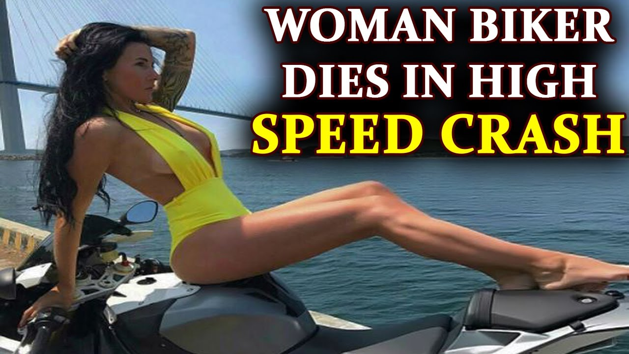 Russian model – biker dies after her BMW S1000RR crashed at high speed  Oneindia News  YouTube
