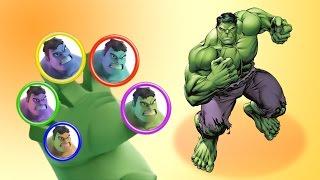 Hulk Finger Family Song - Songs for Children - The Finger Family Nursery Rhymes