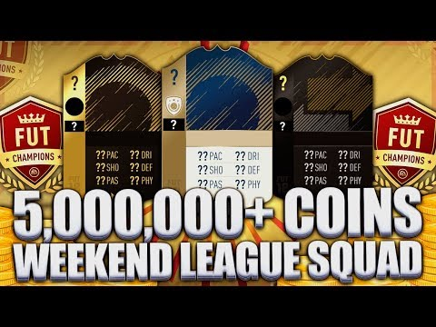 5,000,000+ COINS WEEKEND LEAGUE SQUAD! INVESTING & PROFIT! FIFA 18 ULTIMATE TEAM