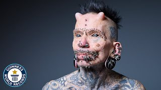 Most Body Modifications - Guinness World Records