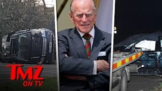 Prince Philip Flips His SUV in Crash & Police Give Him Breathalyzer Test | TMZ TV