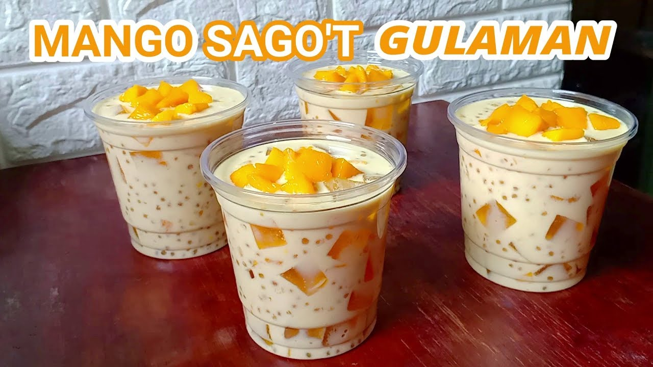 Mango Sago T Gulaman Recipe How To Make Mango Sago T Gulaman Mango Dessert Mango Sago Jelly Recipes