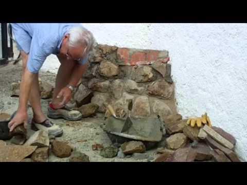 C mo construir una jardinera con mamposter a ordinaria - Como hacer jardineras de piedra ...