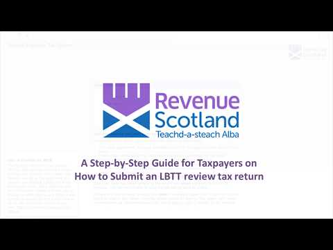 How to submit an LBTT lease review return for tenants