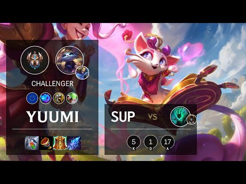 Yuumi Support vs Thresh - EUW Challenger Patch 10.16