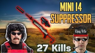 Mini14 SUPPRESSOR POWER - Shroud carries DrDisrespect win DUO FPP(11-Apr) - PUBG HIGHLIGHTS #87