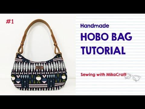 Cara Membuat Tas Hobo (pola PDF Gratis) - Tutorial By Mikocraft
