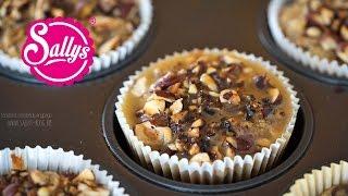 Birnen-Haselnuss-Muffins mit Karamellsoße / sehr saftig und lecker