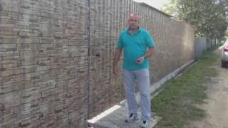 видео Откатные ворота и заборы из профнастила в Мытищах