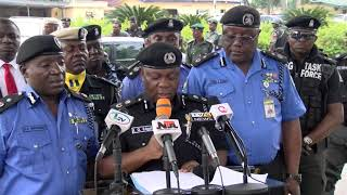 Press Briefing  and Parade of Suspected Criminals by The Lagos Police Command