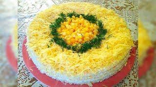 Легкий закусочный пирог с крабовыми палочками!!!