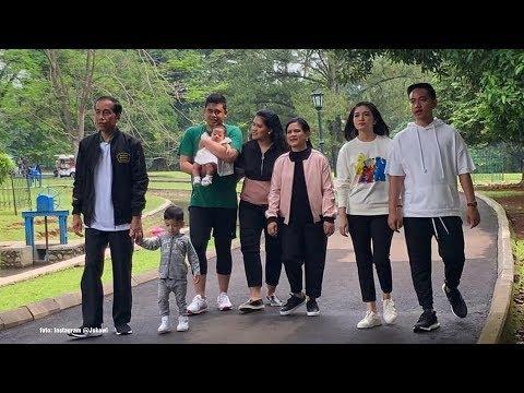 Tanpa Kaesang, Jokowi dan Keluarga Berkeliling Istana Bogor Hingga ke Kebun Raya