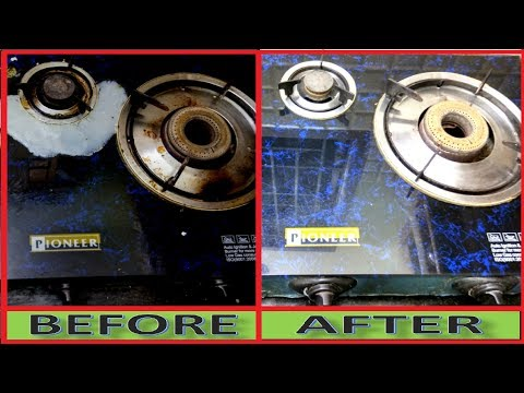 Without Water and Without Chemicals, How To Clean Dirty Gas Stove and Burner Rust
