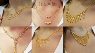 Latest light weight design's of gold chain necklaces 2018
