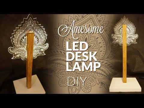 Led lamp AMESOME acrilic desk lamp DIY
