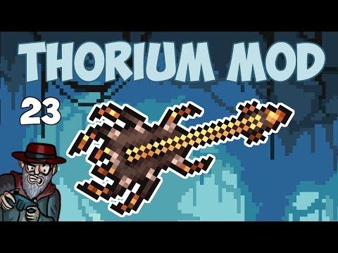 Terraria # 23 RIFF WEAVER! POWERFUL SPIDER WEAPON! - 1.3.5 Thorium Mod Let's Play