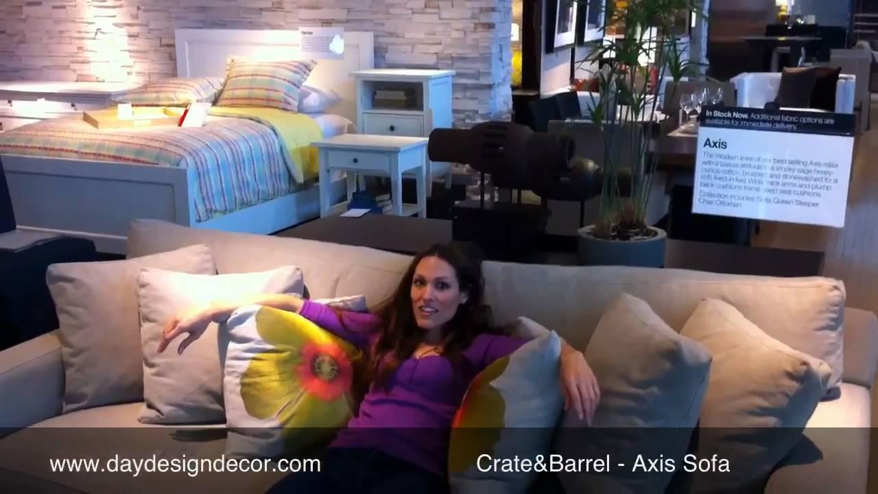 Furniture Reviews  Crateu0026Barrel Axis Sofa   YouTube
