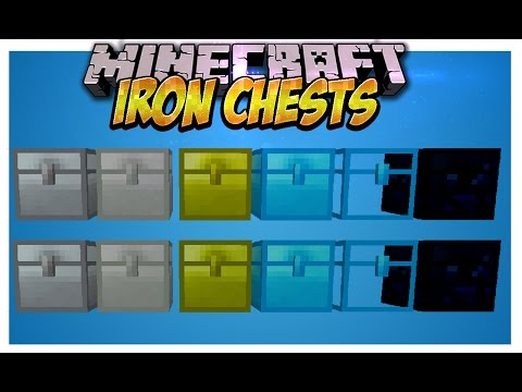 Скачать Iron Chests - мод на сундуки , ,