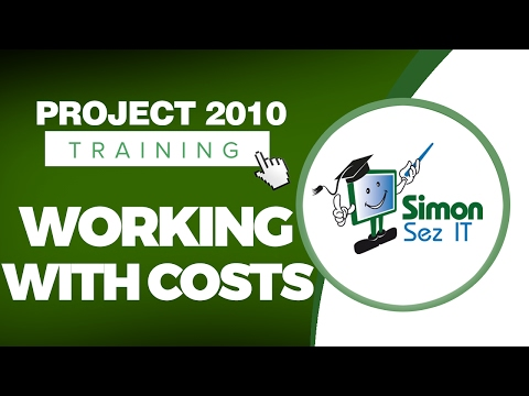 Microsoft Project 2010 Video Training Tutorial -- Working with Costs