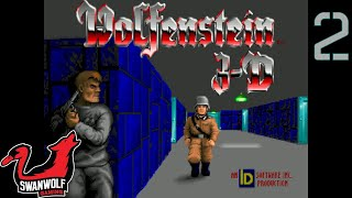 Wolfenstein 3D (No Commentary) | Ep 2: Escape From Wolfenstein (2/2) | Swanwolf Gaming