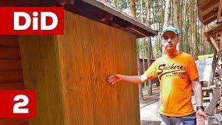 749. Drewniana szafa na narzędzia ogrodowe cz.2