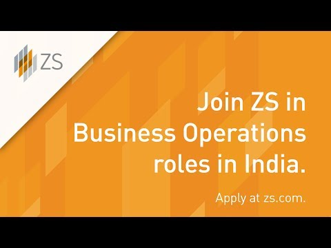 Make an impact in Business Operations jobs at ZS in India